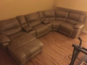 Large sectional couch, sofa - worn needs stitching
