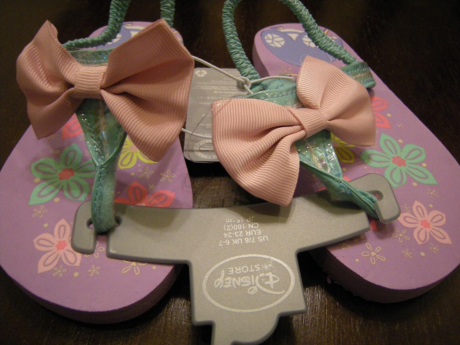 Brand New Toddler Girls Pink & Green Disney Princess Flip Fl
