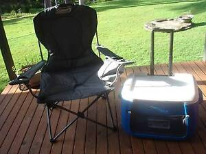 Coleman 47 lt esky on wheels and camper chair Wauchope Port Macquarie City Preview