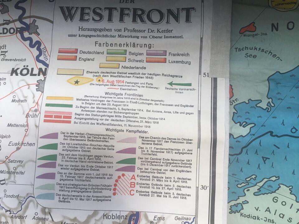 Westfront Aufmarsch Karte von Georg Westermann in Alt Duvenstedt