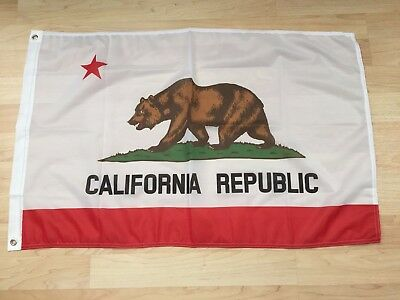 2x3 California Republic Super Poly Premium Quality Flag 2'x3' Banner Grommets-