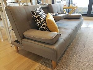 3 seater sofa bed, Foldable middle panel with 2 hidden cup holder Moonee Ponds Moonee Valley Preview