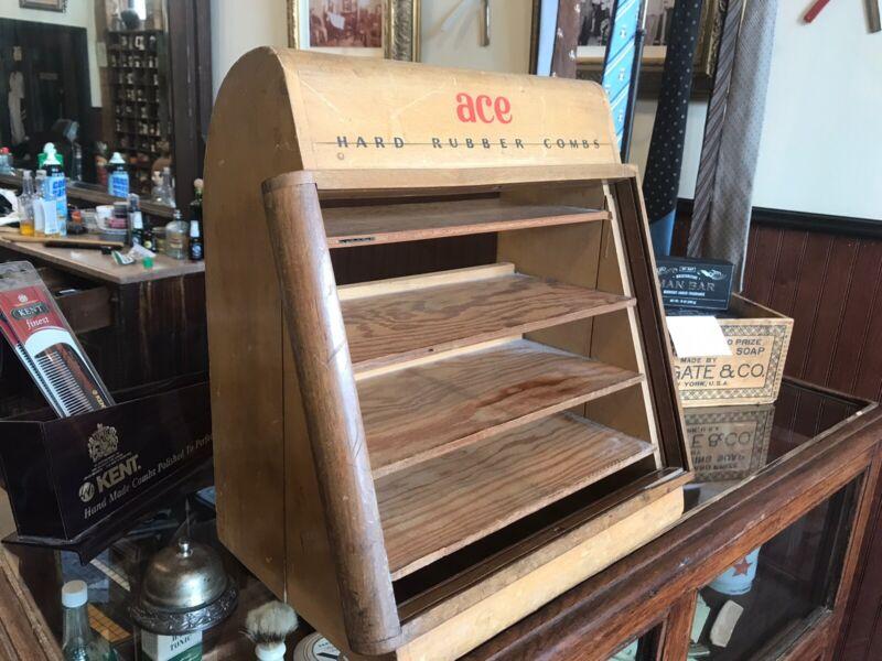 ACE Comb Display . Vintage Barber Shop