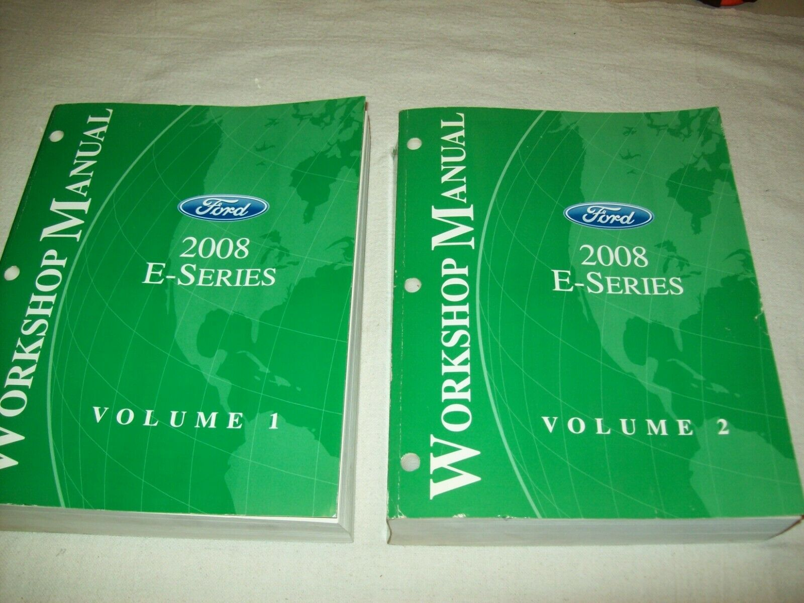 Ford 2008 E Series Van Workshop Manuals Vol. 1 + 2