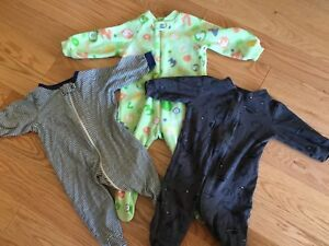 3 zipper sleepers size 3-9 months FREE with purchase