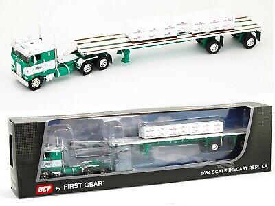 2020 First Gear DCP 1:64 GEORGE VAN DYKE Peterbilt 352 COE w/48' Flatbed & Load