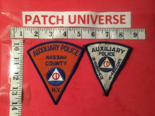 LOT OF TWO DIFFERENT NASSAU COUNTY CD POLICE  SHOULDER PATCHES   G008