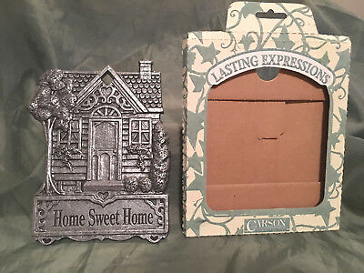 Home Sweet Home Garden Sign Carson Statesmetal Made USA Pewter look Alloy