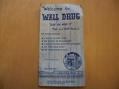 Welcome to Wall Drug Brouchure estimated from 1970s from Wall, SD