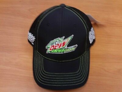 Dale Earnhardt Jr Junior #88 NASCAR Ball Cap Hat NEW Black Mtn Dew Hendrick Dale Earnhardt Jr Cap