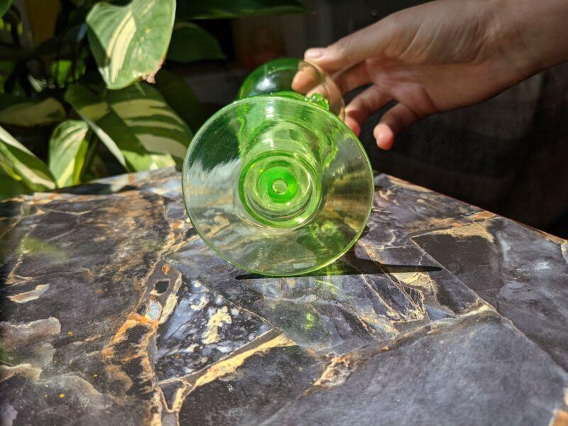 Victorian Era Uranium Roehmer/Rummer Glass 1890s Cologne Ehrenfeld