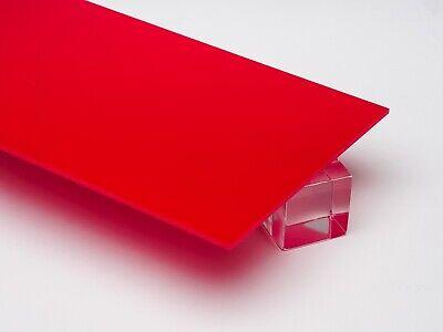 Acrylic Red Opaque Plexiglass .125 - 18 X 24 X 48 Sheet 2157