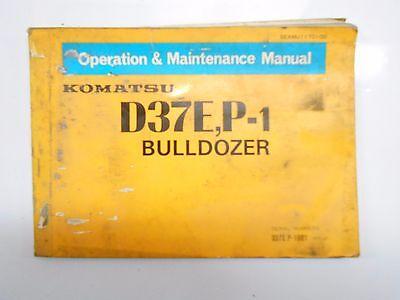 Komatsu D37e-1 Tractor Dozer Crawler Owner Operation Maintenance Manual