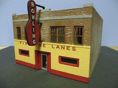HO Scale Fireside Lanes Bowling Alley building Kit Resin ART DECO Best
