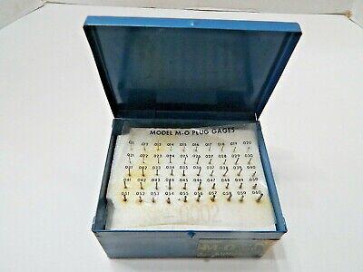 Doall Plug Pin Gage Set M-0 .011-.060 50 Piece In Metal Box