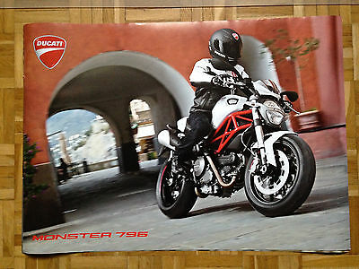 Ducati Monster 796 Poster, original Händlerposter