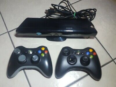 Microsoft Xbox 360 2 Wireless Controllers & Kinect Sensor Bar for sale  Shipping to India
