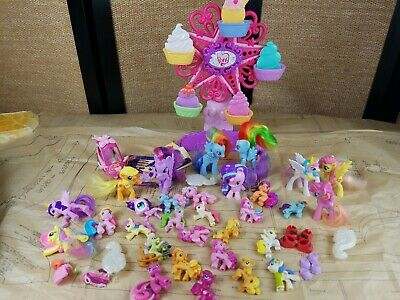 My Little Pony HUGE Lot Of 30+ Figures Hasbro, MLP Car ,and MLP Farris Wheel