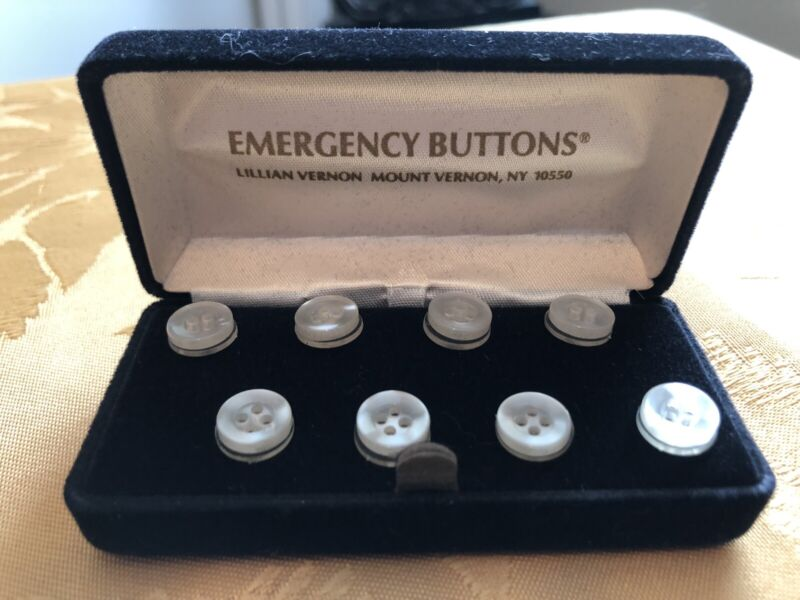 VINTAGE MOTHER OF PEARL EMERGENCY BUTTONS by LILLIAN VERNON *MINT*
