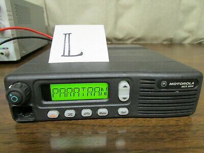 L - Motorola Mcs 2000 Mobile Radio 800mhz Uhf 250 Channels M01hx812w As-is