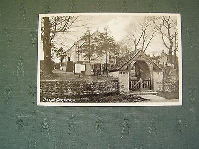 OLD THE LYCH GATE BARLOW - DERBYSHIRE POSTCARD