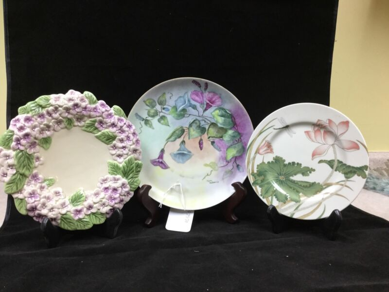 SET OF 3 VINTAGE PLATES...GERMANY, FITZ AND FLOYD..