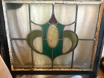 Antiques stained glass leaded window panel REDUCED to £20