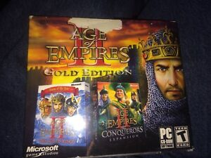 Age of empires 2 Gold Edition rare PC game shipping available