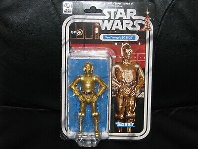 "Star Wars 40th Anniversary Black Series 6"" C-3PO"