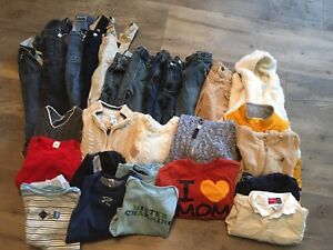 6-12 months overalls, jeans, sweaters, tops. All brand name.
