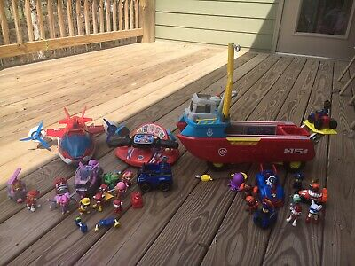 Paw Patrol Toy Lot Figures, Boat, Plane