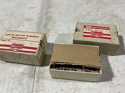 Lot Of Four Monitor Products Size 10 Heater Elements Magnetic 160-31-2.75a Nos