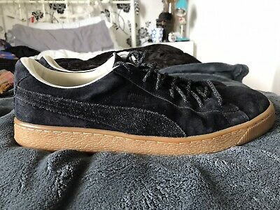 Puma Basket Winterised black suede trainers Mens UK size 11