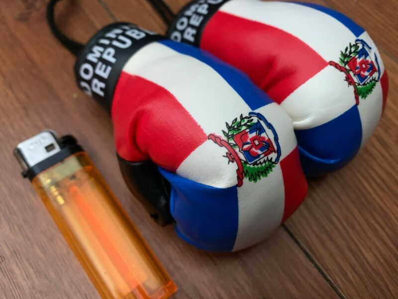 Dominican Republic flag mini boxing gloves for car NEW