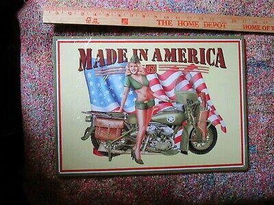 tin metal home garage repair shop man cave decor service station fuel motorcycle