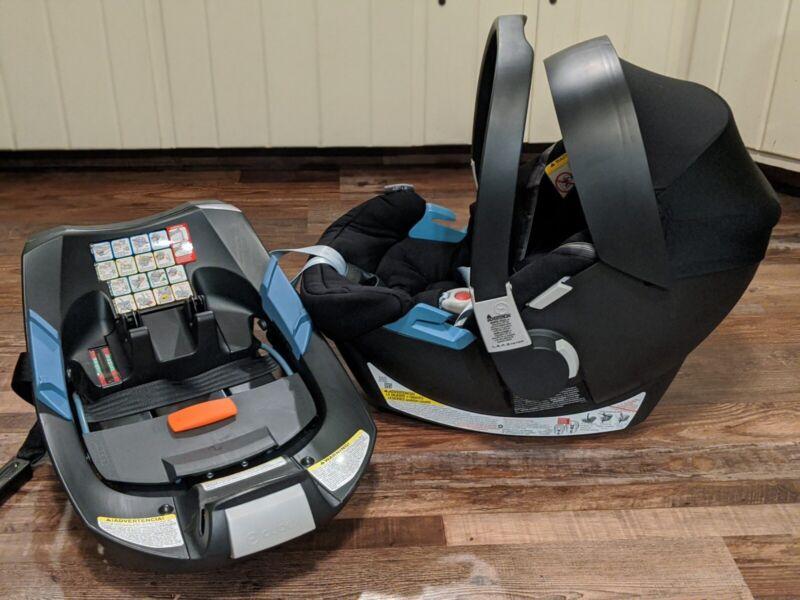 Brand New Cybex- Aton 2 Sensorsafe Infant Car Seat & SafeLock Base- Black