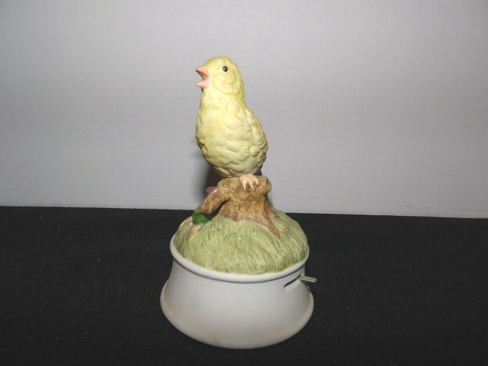 Gorham Porcelain Music Box American Goldfinch On Branch Vtg. - $19.95