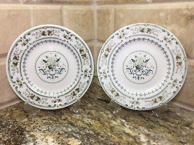 """Regal Doulton PROVENCAL -set of 2 BREAD & BUTTER PLATES 6-1/2"""" - Made in England"""
