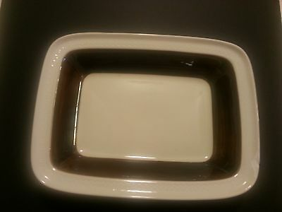 Rorstrand Sweden Forma P555 Large Retangle Serving Plate Pottery Brown Ivory