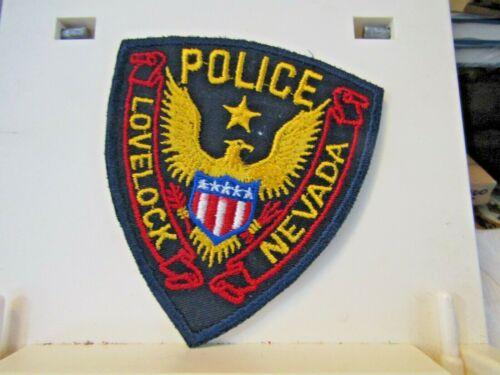 Police Lovelock Nevada NV shield patch eagle NOS new