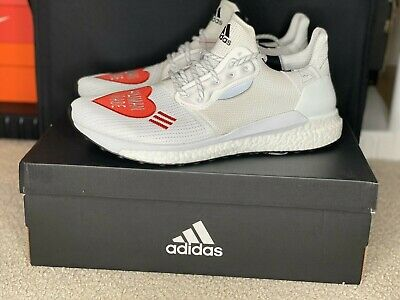 Adidas Solar Hu Glide Human Made White Red Size 8 EG1837 Brand New