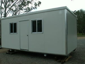 Brandnew portable office site shed building 6mx3mx2 6m for Portable shed office