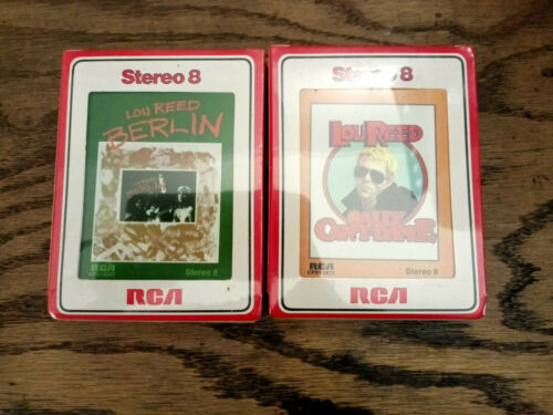 Lou Reed-Sealed 8 Track Tapes Lot Of 2-Rock-New NOS Berlin
