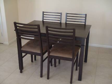 **SOLD**  Wooden dining table and four chairs Innaloo Stirling Area Preview