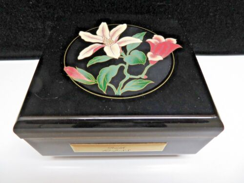 Japanese Painted Lacquer Ware Jewerly Music Box