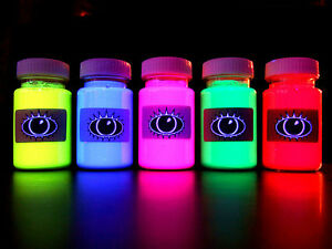 UV-Fabric-Textiles-Craft-Paint-U-V-Reactive-Ultra-Violet-T-Shirt-Paints