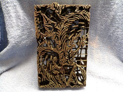 Antique Indonesian Batik Copper Fabric Stamp With Handle LOOK!