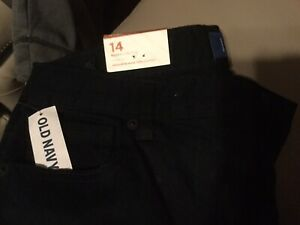 Boy's Old Navy black jeans - slim thigh and leg, NOT SKINNY FIT