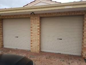 2 x Motorised Garage Doors for sale incl motors and all parts