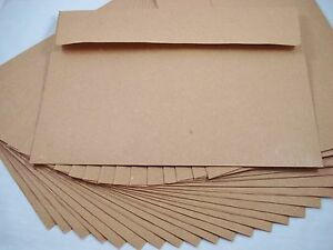 25 Kraft Recycled 180x130mm Envelopes Brown Natural Fits 5
